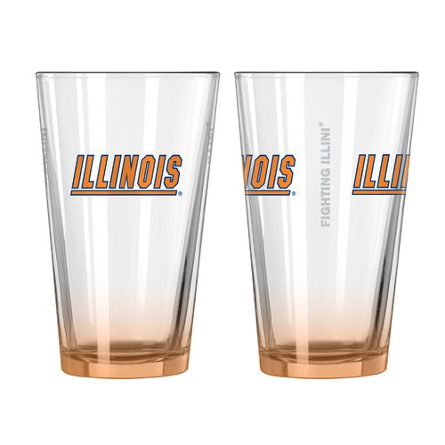 Boelter Brands University of Illinois Elite 16 oz. Pint Glasses 2-Pack