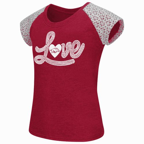 Colosseum Athletics Girls' University of Arkansas All About That Lace T-shirt