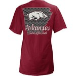 Three Squared Juniors' University of Arkansas State Monogram Anchor T-shirt