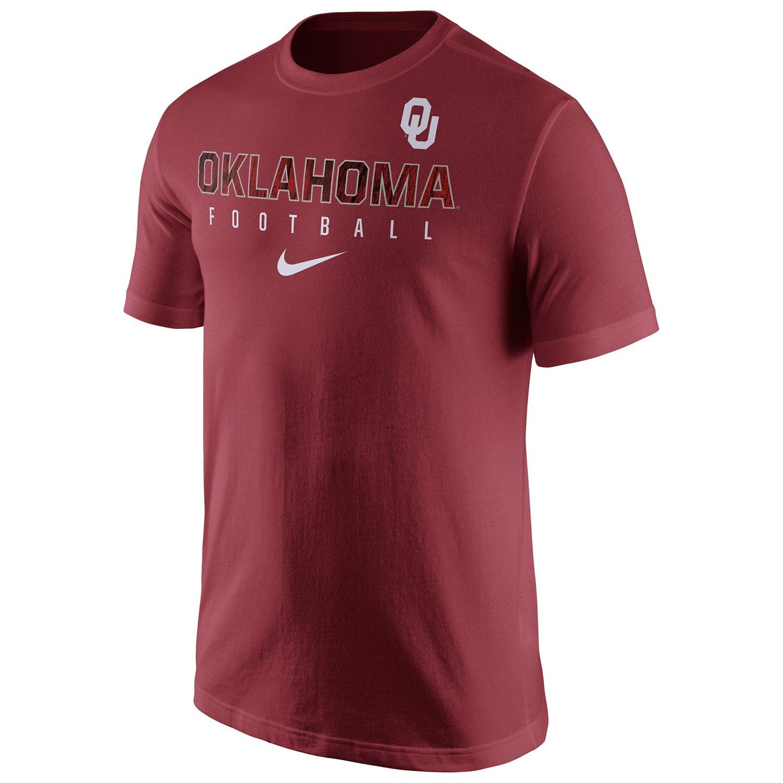 Nike Men's University of Oklahoma Short Sleeve Practice