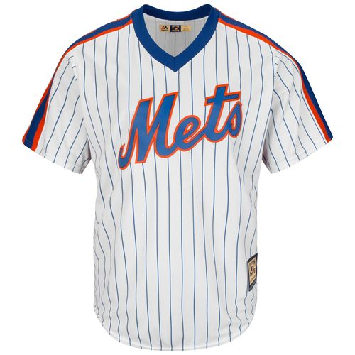 Majestic Men's New York Mets Darryl Strawberry #18 Cooperstown Cool Base 1986 Replica Jersey - view number 2