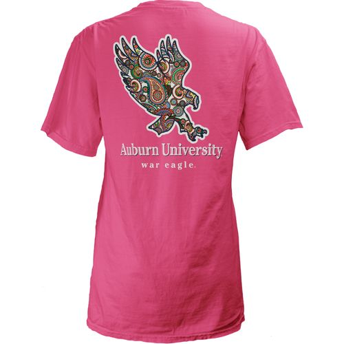 Three Squared Juniors' Auburn University Preppy Paisley T-shirt