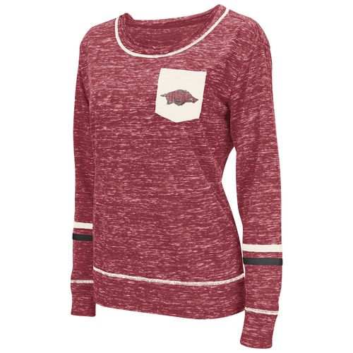 Colosseum Athletics™ Women's University of Arkansas Homies Raw Edge Pocket T-shirt