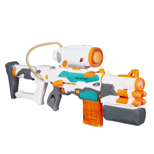 Display product reviews for NERF™ Modulus Tri-Strike Blaster