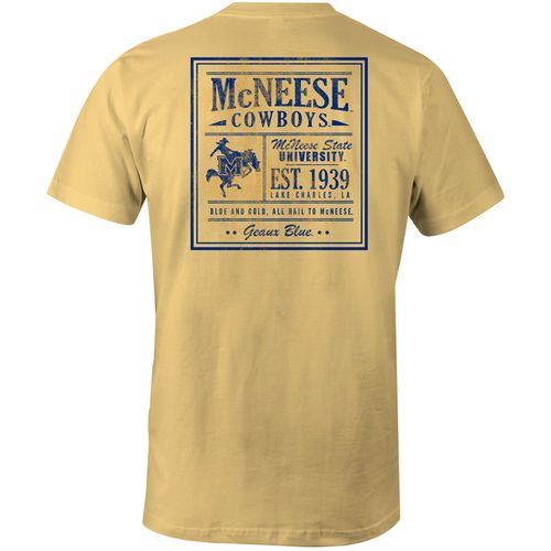 Image One Men's McNeese State University Vintage Poster Comfort Color T-shirt
