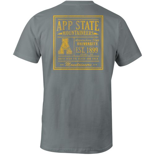 Image One Men's Appalachian State University Comfort Color Vintage Poster Short Sleeve T-shirt