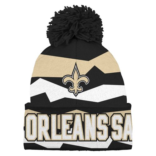 NFL Kids' New Orleans Saints Cuffed Knit Cap with Pom
