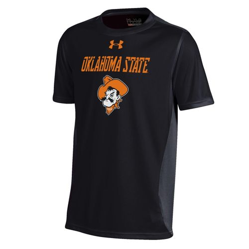 Under Armour™ Boys' Oklahoma State University Short Sleeve Colorblock T-shirt