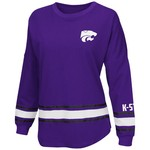 Colosseum Athletics™ Women's Kansas State University All Around Oversize Long Sleeve T-shir