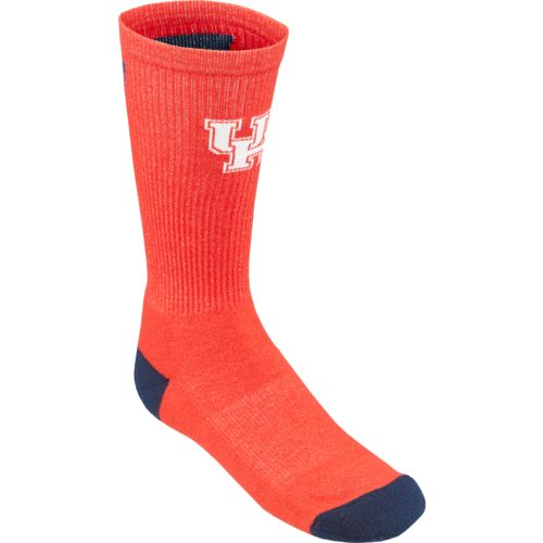 Topsox Boys' University of Houston V-stripe Crew Socks