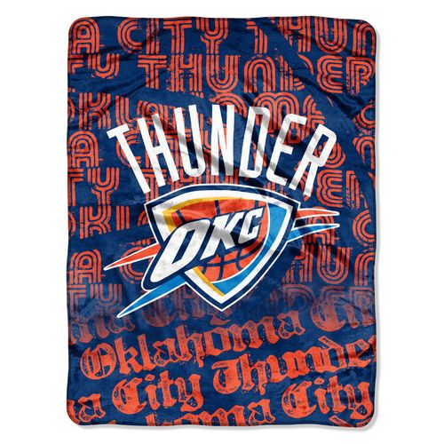 The Northwest Company Oklahoma City Thunder 40 Yard Dash Micro Raschel Throw