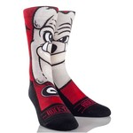 Rock 'Em Apparel Men's University of Georgia Hairy Dawg Mascot Socks