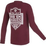 Image One Men's Texas A&M University Finest Shield Comfort Color Long Sleeve T-shirt