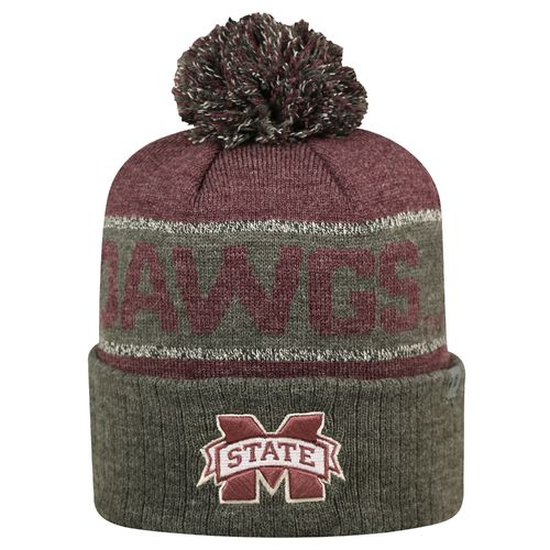 Top of the World Men's Mississippi State University Below Zero Cuffed Knit Cap