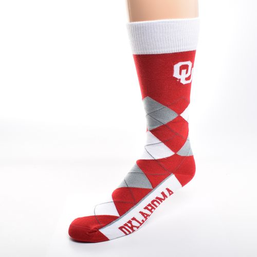 FBF Originals Adults' University of Oklahoma Team Pride Flag Top Dress Socks