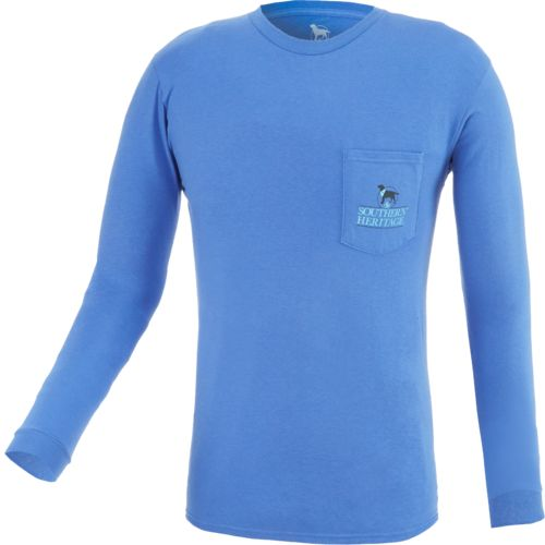 Southern Heritage Men's Simple Living Long Sleeve Pocket T-shirt