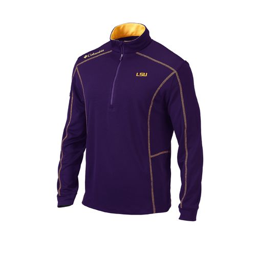 Columbia Sportswear™ Men's Louisiana State University Shotgun 1/4 Zip Pullover