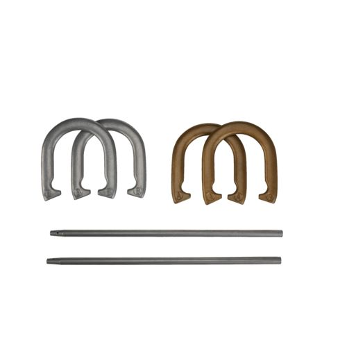 Display product reviews for AGame Deluxe Metal Horseshoe Game Set