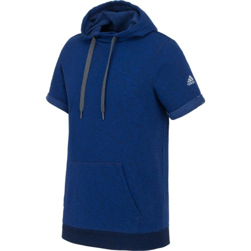 adidas™ Men's Cross Up Short Sleeve Hoodie
