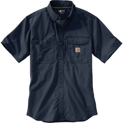 Carhartt Men's Force Ridgefield Solid Long Sleeve Shirt