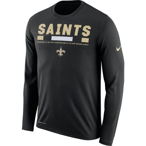 Nike™ Men's New Orleans Saints Dry Legend Onfield Long Sleeve T-shirt