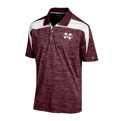 Champion™ Men's Mississippi State University Synthetic Colorblock Polo Shirt
