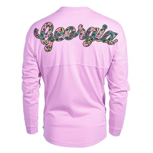 Venley Women's University of Georgia Hawaiian Spirit Long Sleeve Football T-shirt - view number 1