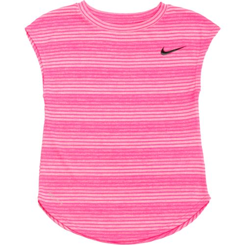 Nike Girls' Stripe Heather Gradient Dri-FIT Modern T-shirt