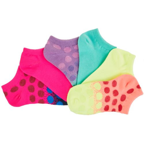BCG Girls' Gradient Shiny Dot No-Show Socks 6 Pack - view number 3