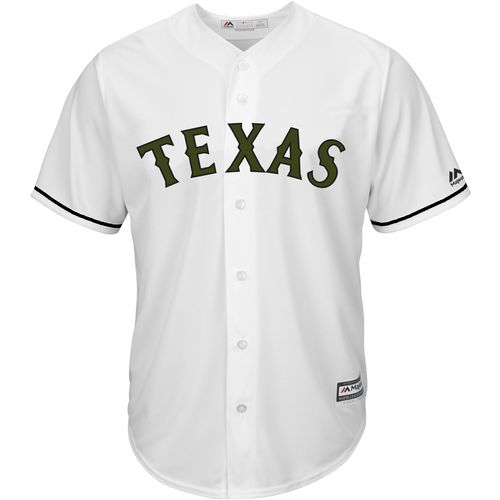 Majestic Men's Texas Rangers Cole Hamels Memorial Day COOL BASE Jersey - view number 2