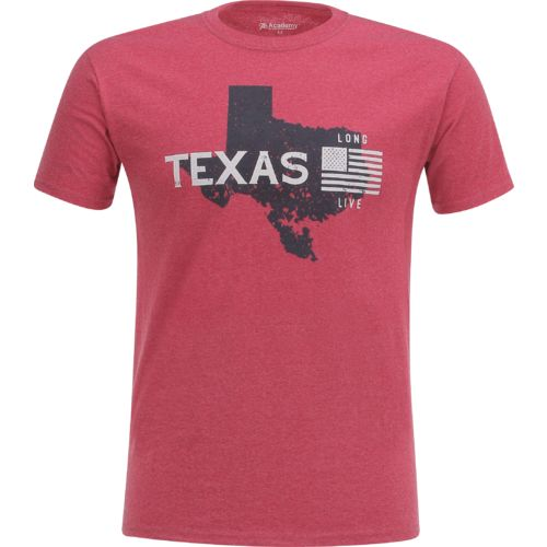 Display product reviews for Academy Sports + Outdoors Men's Texas Long Live T-shirt