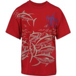 Guy Harvey Boys' Tuna Etching Short Sleeve T-shirt - view number 1