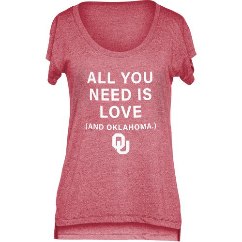 Chicka-d Women's University of Oklahoma Scoop-Neck T-shirt