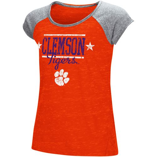Colosseum Athletics Girls' Clemson University Sprints T-shirt