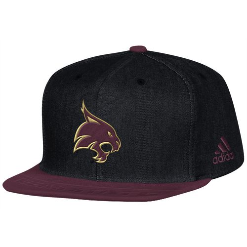 adidas Men's Texas State University Sideline Player Flat Brim Snapback 2-Tone Cap