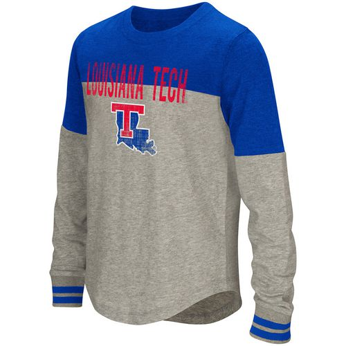 Colosseum Athletics Girls' Louisiana Tech University Baton Long Sleeve T-shirt