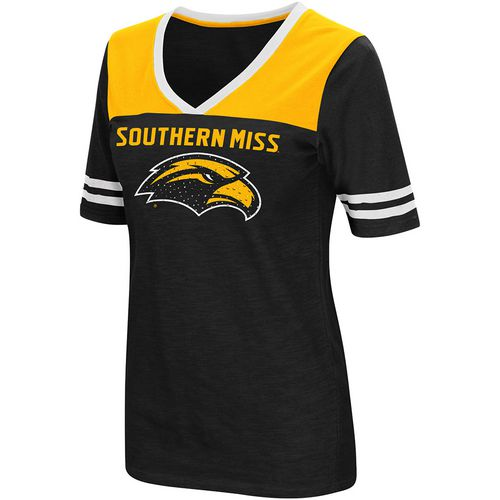 Colosseum Athletics Women's University of Southern Mississippi Twist 2.1 V-Neck T-shirt - view number 1