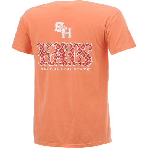 New World Graphics Women's Sam Houston State University Comfort Color Initial Pattern T-shirt - view number 2
