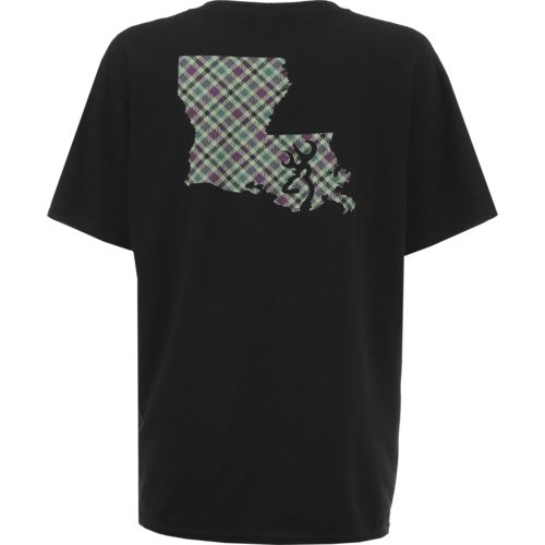 Browning Women's Plaid Louisiana Classic Outdoor Graphic T-shirt