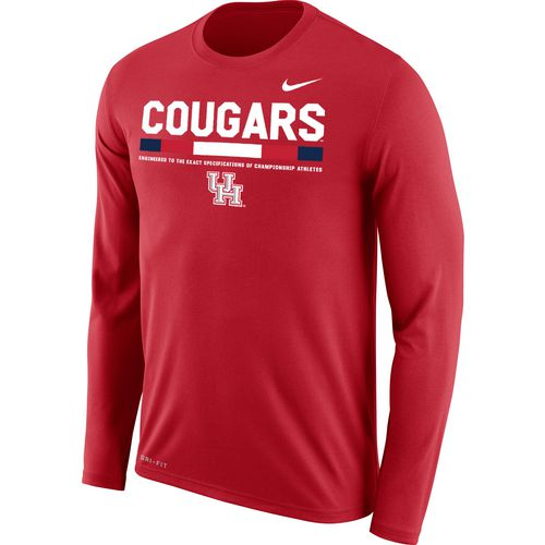 Nike Men's University of Houston Dri-FIT Legend 2.0 Short Sleeve T-shirt