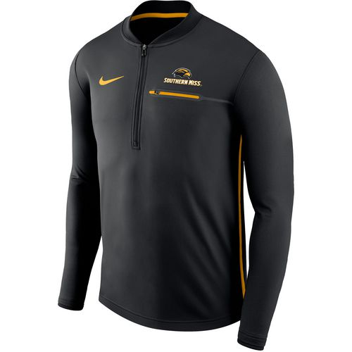 Nike Men's University of Southern Mississippi Sideline Coaches 1/2 Zip Jacket