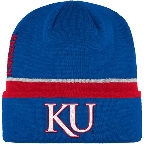 adidas Men's University of Kansas Sideline Coach Cuffed Beanie