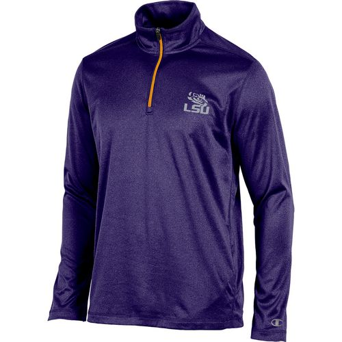 Champion Men's Louisiana State University Victory 1/4 Zip Long Sleeve Pullover