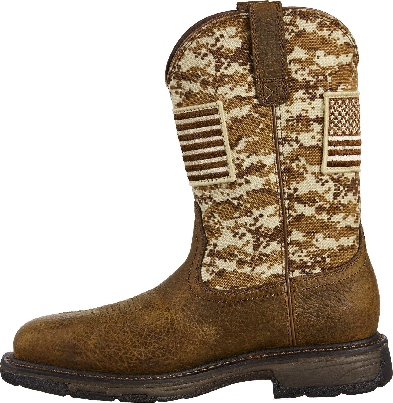 Ariat Men's WorkHog Patriot Camo Safety Toe Wellington Work Boots (Beige Or Khaki, Size 7) - Wellington Steel Toe Work Boots at Academy Sports thumbnail