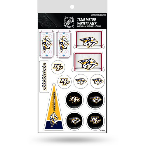 Rico Nashville Predators Tattoo Variety Pack