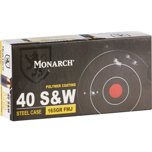 Monarch .40 S&W FMJ Pistol Ammunition