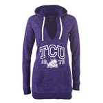 Step Ahead Juniors' Blue 84 Texas Christian University Fleece Pullover Hoodie