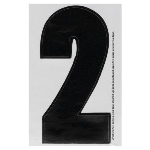 "Hardline Products® Dyer 3"" Number 2 Decal"