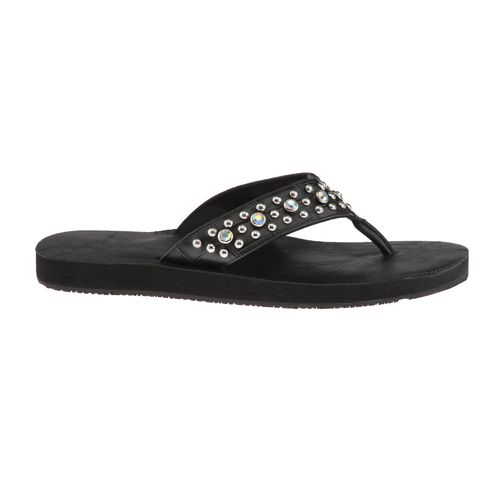Gotta Flurt Women's Diamond Collection Low Thong Wedge Sandals