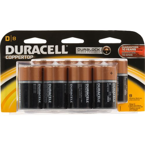 Duracell Coppertop D Batteries 8-Pack